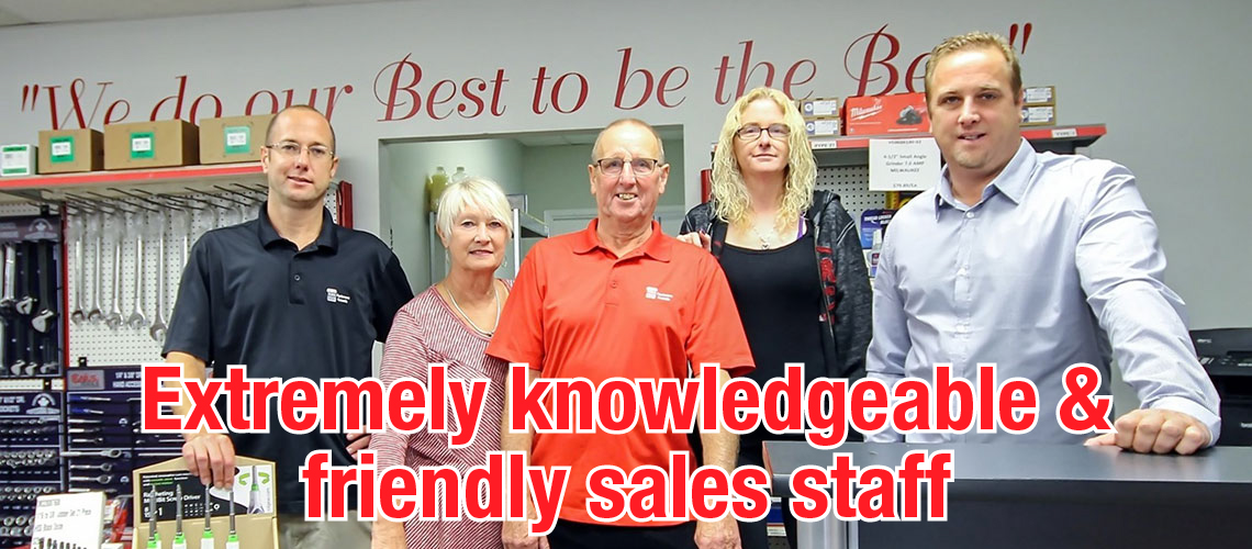 Extremely knowledgeable sales staff